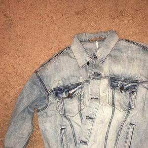 Free people denim trucker jacket BRAND NEW W tags